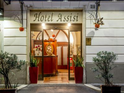 hotel assisi rome entrance
